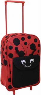 Kids Travel Suitcase Girls Boys Wheeled Trolley Bag Cabin Hand Luggage