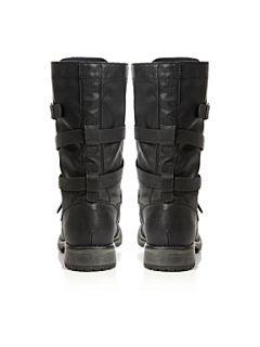 Madden Girl Razcal MG Buckle Calf Boots Brown