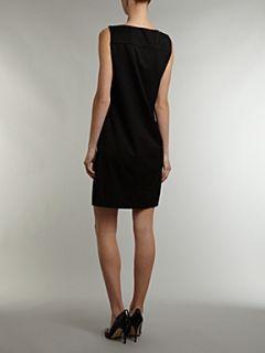 Love Moschino Sleeveless heart pockets dress Black
