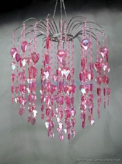Large Pink Waterfall Acrylic Crystal Chandelier Wedding Event Party