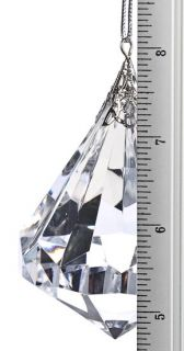 Large Acrylic Crystal Faceted Jewel Hanging Ornament