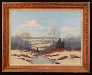 Dixon New York California Impressionist Landscape Painting 1