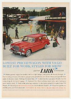 1960 Studebaker Lark Station Wagon Skiers MT Snow VT Ad