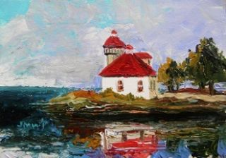 Sea Lighthouse Landscape Original Painting JMW Art John Williams