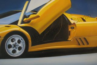 Lamborghini Diablo Roadster 1996 Canvas Oil Painting