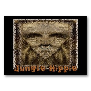Jungle Hippie   Artist Trading Cards business cards by Guiltypleasures