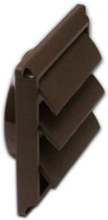 Lambro 2677B 4 Brown Plastic Replacement Louver Dryer Vent Face Hood