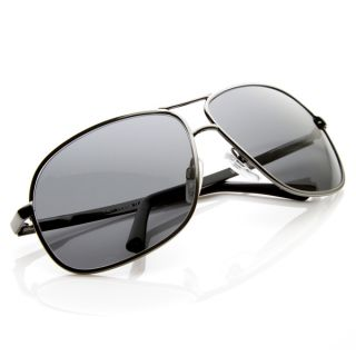 Large Mens GQ Square Aviator Sunglasses Metal Aviators 8678
