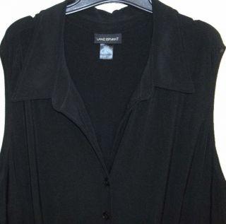 Lane Bryant Black Stretch Knit Elegant Jumpsuit Romper Cat Suit 26 28
