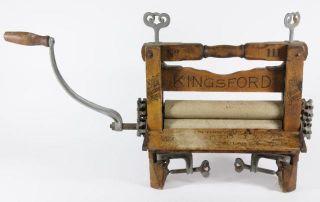 Antique Kingsford No 111 Wooden Clothes Wringer Patent Date June 20
