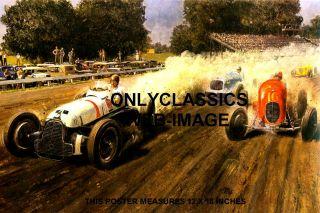 Langhorne Speedway Peter Helck Art Poster Auto Racing