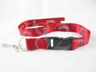 MLB Anaheim Angels Lanyard Keychain Key Chain Red