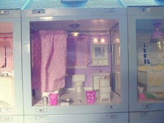Laura Ashley Doll House 6 Units w Furniture and Accessories