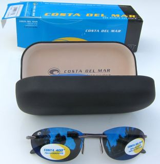 Costa Del Mar Lash Sunglasses Polarized Blue Mirror 400 Lens Gunmetal