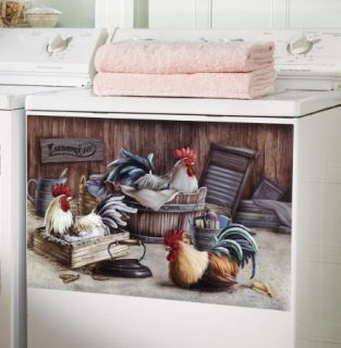 Farmhouse Rooster Laundry Room Decorative Washer Magnet New I4890
