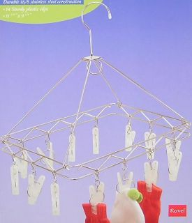 882 Stainless Steel Hanging Hanger Laundry Dryer Clothes Garment Hooks