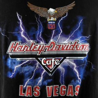 Harley Davidson Cafe Las Vegas Nevada Mens T Shirt Large Black