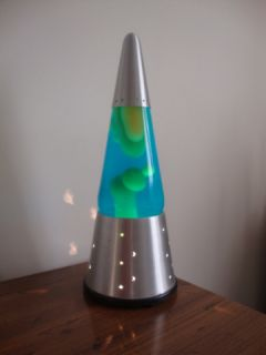 Genuine Lava Lite Wizard Moon Star Base Awesome Blue Liquid Excellent