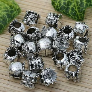20 Tibetan Silver Large Hole Bead Fit European Bracelet
