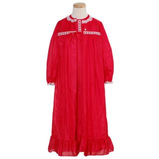 Laura Dare Toddler Girls Size 4T Red Classic Nightgown w Cover Up