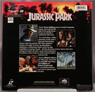 Laser Disc Movie Jurassic Park Spielburg Letterboxed Ed