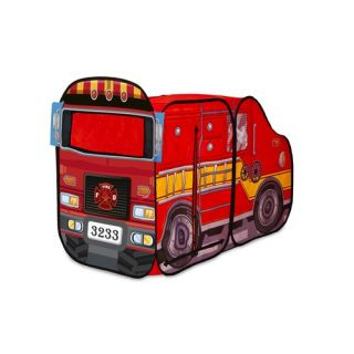 Playhut Big Red Fire Truck Pop Up Play Tent 26606