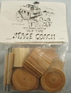 Vintage 1974 Old Time Stage Coach Wood Kit Buggy Car