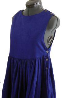 Vintage Laura Ashley Purple Cord Dress Jumper Size USA 6. Sleeveless