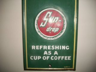 Nice Vintage Golden Girl Cola Sun Drop Thermometer Tin Sign 27
