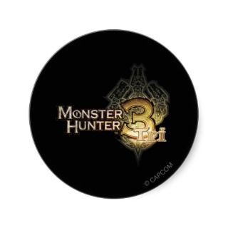 Monster Hunter Tri logo Round Sticker