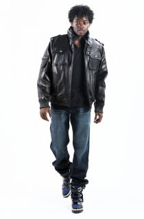 New Black Lambskin Leather Military Hip Hop Urban Bomber Jacket