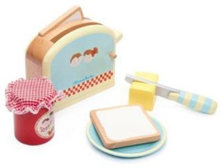 Le Toy Van Honeybake Toaster Set Wooden Role Play Toy TV287