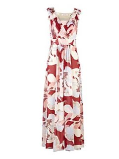 Jacques Vert Voluminous bloom maxi dress Red