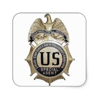 DRUG ENFORCEMENT SPECIAL AGENT BADGE STICKERS