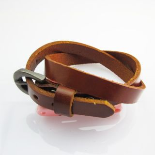 Cool Men Clasp Hand Woven Leather Bracelet Chain Fashion Jewelry Punk