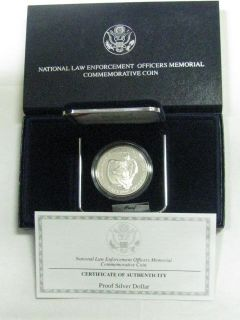 1997 P Law Enforcement Proof Silver Dollar Commemorative Coin