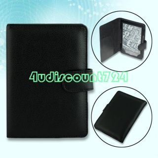 Black Leather Cover Case for  Kindle 4 4th 4G Generation