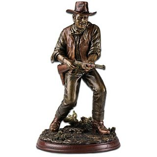The John Wayne Lawman Bronze Toned Sculpture