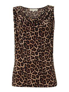 Michael Michael Kors Leopard print cowl neck vest top Leopard Print