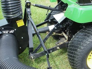 Model 856 13 5HP Briggs 3 Point Hitch Lawn Mower Bagger Vacuum