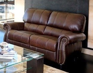 Leather Loveseat Lorenzo by Abbyson Living Burgundy Factory Second