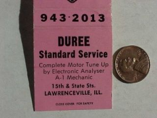 1960s Lawrenceville Illinois Duree Standard Oil Gas Service Station