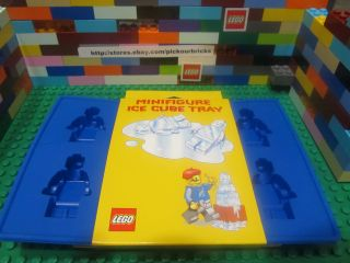 Lego 852771 Blue Minifigure Silicone Ice Bricks Tray Chocolate Candy