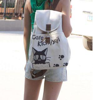 Korean Style Ladys Girls Cafe Canvas Backpack Handbag Shoulder Bag