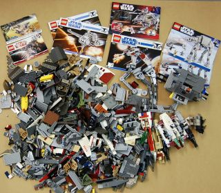 Large Lot of LEGO STAR WARS Sets 7680   7674   7671   8086   8129 w