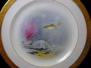 Antique Minton Albert H Wright Fish Plates Exquisite