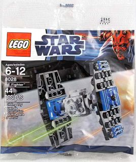 Star Wars Lego Mini Tie Fighter 44 Pcs Bagged 8028