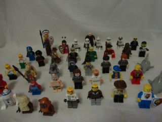 Huge Lot of 40 Lego Minifigs Star Wars Harry Potter Inidans Spongebob