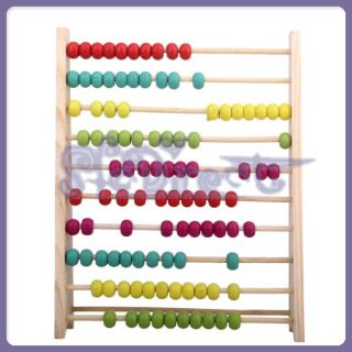 Number & Color Learning Wooden Abacus Counting Frame Maths Aid