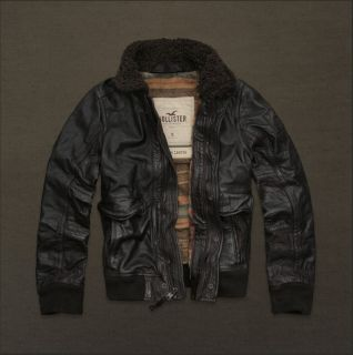Hollister by Abercrombie Mens Palm Canyon Leather Jacket Size S $400